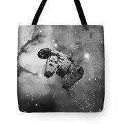 Millennium Falcon And Cosmos Tote Bag