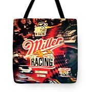 Miller Racing Sign 25th Year Tote Bag