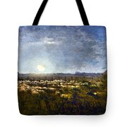 Millet: Sheep By Moonlight Tote Bag