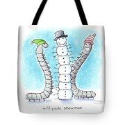 Millipede Snowman Tote Bag