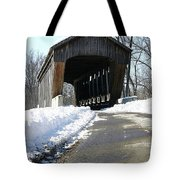 Millrace Park Old Covered Bridge - Columbus Indiana Tote Bag