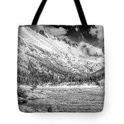 Mills Lake Monochrome Tote Bag
