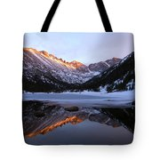 Spring Sunset At Mill's Lake In Rocky Mountain National Park, Colorado, Usa Tote Bag