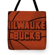 Milwaukee Bucks Leather Art Tote Bag
