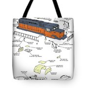 Milwaukee Road Sd-40 Pop-art Tote Bag