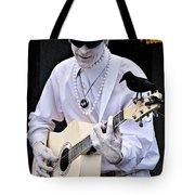 Mime And Guitar Tote Bag