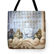 Minature Buddhas Tote Bag