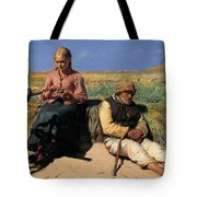 Minding A Child Tote Bag