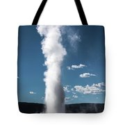 Old Faithful Eruption Tote Bag by Mae Wertz