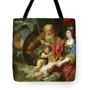 Minerva And Saturn Protecting Art And Science From Envy And Lies  Tote Bag