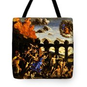 Minerva Chasing The Vices From The Garden Of Virtue 1502 Tote Bag