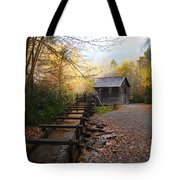 Mingus Mill Fall Color Great Smoky Mountains National Park Tote Bag
