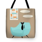Mini Abstract With Blue Chair Tote Bag