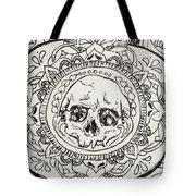 Skull Mandala Tote Bag