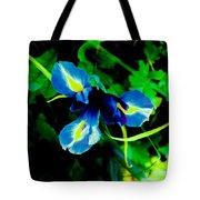 Miniature Blue Iris Tote Bag