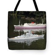 Miniature Boats Tote Bag