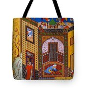 Miniature From Rose Garden Of The Pious Tote Bag