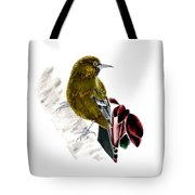 Minimal Bird In Contrast Tote Bag