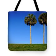 Minimal Palm Trees On A Hill In Saint Augustine Florida Tote Bag