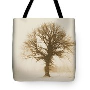 Minimal Winter Tree Tote Bag