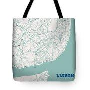 Minimalist Artistic Map Of Lisbon, Portugal 3a Tote Bag