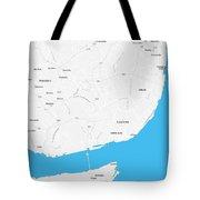 Minimalist Artistic Map Of Lisbon, Portugal 4a Tote Bag