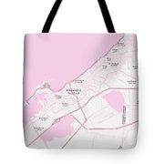 Minimalist Modern Map Of Alexandria, Egypt 1 Tote Bag