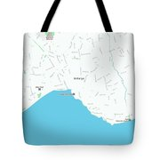 Minimalist Modern Map Of Antalya, Turkey 1 Tote Bag