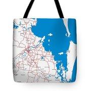 Minimalist Modern Map Of Brisbane, Australia 6 Tote Bag