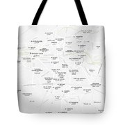 Minimalist Modern Map Of Downtown Damascus, Syria 2 Tote Bag