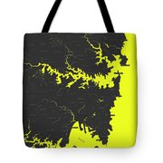 Minimalist Modern Map Of Sydney, Australia 8 Tote Bag by Celestial Images