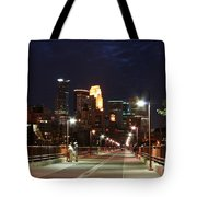 Minneapolis From The Stone Arch Bridge Tote Bag
