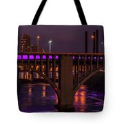 Minneapolis In Purple 4 - Wide Crop Tote Bag