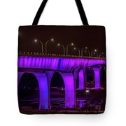 Minneapolis In Purple 6 Tote Bag