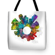 Minneapolis Small World Cityscape Skyline Abstract Tote Bag