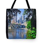Minneapolis Through The Trees Tote Bag