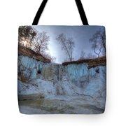 Minnehaha Falls Minneapolis Minnesota Winter Morning Tote Bag
