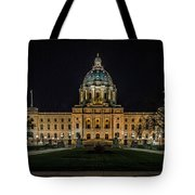 Minnesota Capital At Night Tote Bag