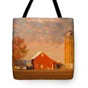 Minnesota Farm At Sunset Tote Bag