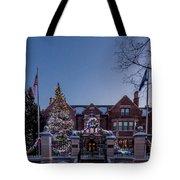 Christmas Lights Series #6 - Minnesota Governor's Mansion Tote Bag
