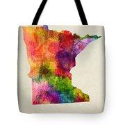 Minnesota State Map 02 Tote Bag
