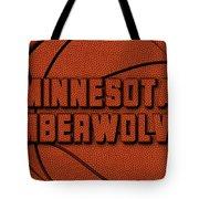 Minnesota Timberwolves Leather Art Tote Bag