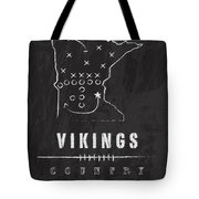 Minnesota Vikings Art - Nfl Football Wall Print Tote Bag by Damon Gray