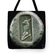 Minotaur On A Greek Coin Tote Bag