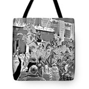 Mint Julep In Grayscale Tote Bag