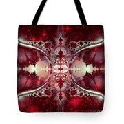 Mirror Gateway / Crop / Red Stars Tote Bag