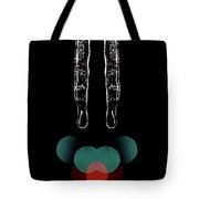 Mirror Icicles Red And Green Bokah Tote Bag