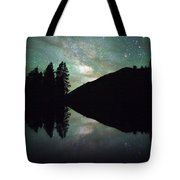 Mirror In The Mountains Tote Bag