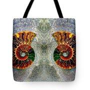 Mirrored Ammomite - 8305 Tote Bag