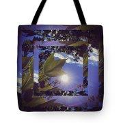 Mirrored Leaf Tote Bag